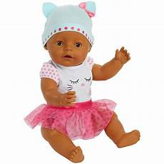 baby born interactive baby doll with brown