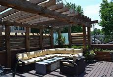 reclaimed timber pergola chicago roof deck garden