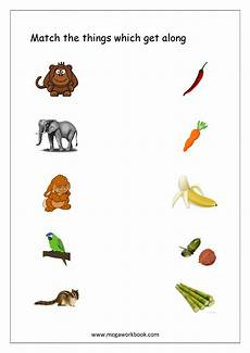 worksheets with animals and their food 14086 things that go together worksheets free printables megaworkbook