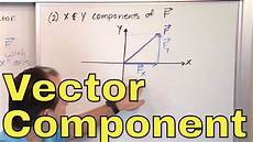 17 calculating vector components in physics part 1 component form of a vector youtube