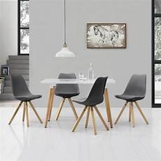 Esstisch Mit 4 Stühlen Günstig - en casa 174 esstisch bambus mit 6 st 252 hlen gepolstert wei 223
