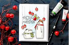 paper smooches christmas in july merry christmas watercolor card blog hop giveaway