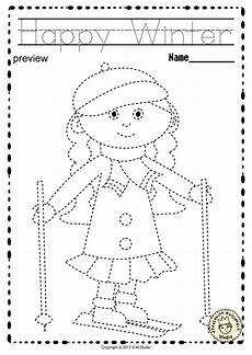 handwriting worksheets for motor skills 20666 winter trace and color pages motor skills pre writing motor skills