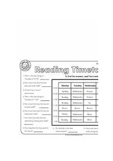 reading timetables school homeschool math worksheets english lessons