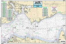 Choctawhatchee Bay Tide Chart Laminated Fishing Depth Chart Color Choctawhatchee Bay To