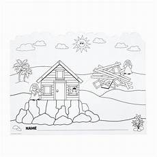 32 wise and foolish builders coloring page in 2020