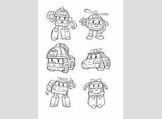 10 dessins de coloriage Robocar Poli Totobus à imprimer
