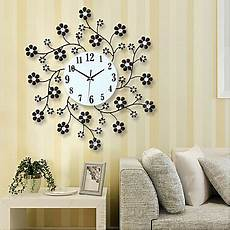 pastoral flower iron rhinestone living room bedroom watch