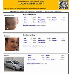 missing person pa purple toyota amber alert texas 2 year old believed to be in grave danger found ketk fox51