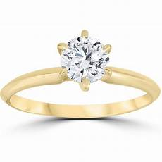 Engagement Rings Yellow Gold Solitaire 14k yellow gold 3 4ct solitaire engagement