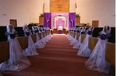 purple wedding decorations chair bows pew bows satin church aisle decor ebay