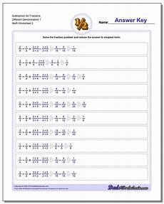 fraction worksheets adding and subtracting unlike denominators 3838 subtracting fractions with unlike denominators
