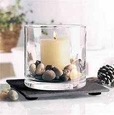 Kerze Und Kleine Steine Im Glas Deko Dekor Gl 228 Ser Mit