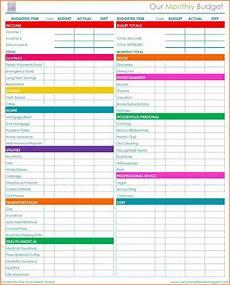 5 bills budget spreadsheet excel spreadsheets group