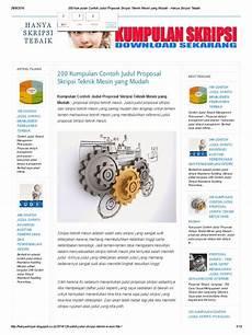 200 kumpulan contoh judul proposal skripsi teknik mesin yang mudah hanya skripsi tebaik pdf