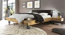 Echtholz Bett Aus Wildeiche Balkenoptik Industrial Style