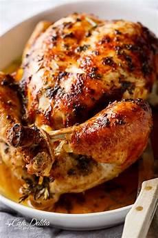 garlic herb butter roast chicken cafe delites