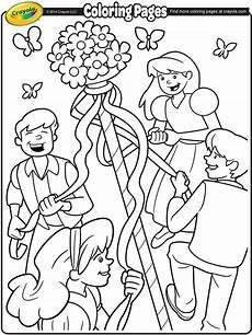 may day maypole coloring page crayola com