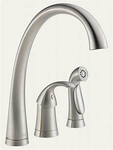 3 kitchen faucets delta 4380 ss dst pilar single handle widespread kitchen faucet with matching side sprayer