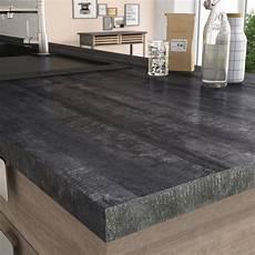 plan de travail cuisine profondeur 65 cm plan de travail stratifi 233 new vintage wood noir mat l 315
