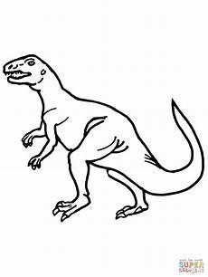 teratosaurus triassic dinosaur coloring page