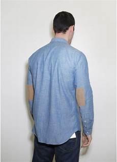 folk patch shirt chambray