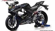 Modifikasi R15 2018 by Modifikasi Striping Yamaha R15 V3 Movistar Motogp 2018