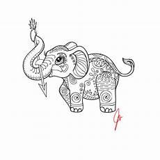 elephant pattern simple elephant