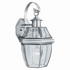 lighting heritage 1 light brushed nickel outdoor wall lantern sl942478 the home depot