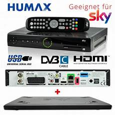 Hd Digital Receiver Kabel - kabel receiver humax pr hd3000c dvb c digital sky s hd3