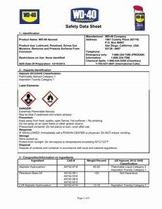 wd 40 sds sheet material safety data sheet msds wd 40 company