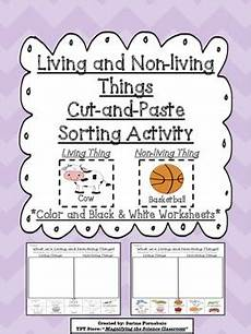 sorting living things worksheets 7894 living and non living things cut and paste by magnifying the science classroom teachers pay