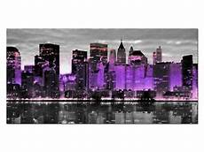 Glasbild 50 X 100 - hd glasbild eg4100500897 new york skyline lila 100 x 50 cm