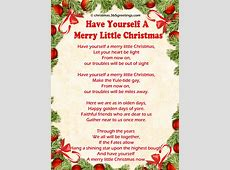 Have Yourself A Merry Little Christmas Lyrics-Have Yourself Christmas Song