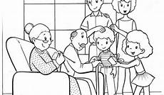family pages for preschool coloring pages
