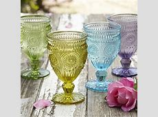 Vintage Style Goblets in outdoor glassware at Lakeland