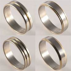 new mens womens silver and gold plated wedding bands thumb