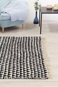 Teppich Grau 140x200 - teppich 140 x 200 cm baumwollteppich lindby schwarz wei 223