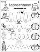 Trace The Pattern Leprechaun Worksheets By PreKautism  TpT