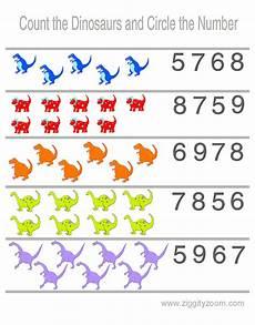 preschool worksheet counting dinosaurs dinosaur theme preschool preschool worksheets numbers