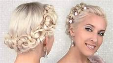 easy prom wedding updo hairstyle for medium hair