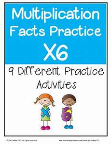 multiplication worksheets x6 4683 multiplication facts x6 practice activities by jan lindley tpt