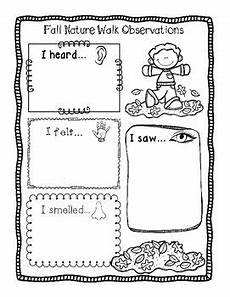 nature worksheets kindergarten 15127 two free fall nature walk observation worksheets differentiated walking in nature autumn
