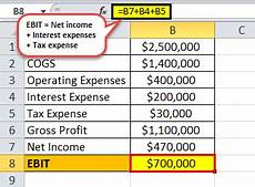 ebit earnings before interest taxes meaning exles