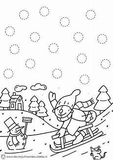 free winter trace worksheet for kids crafts and
