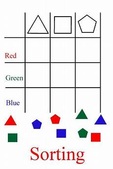 sorting patterns worksheets 7863 sort just by shape then sort by color and shape recreate on the floor f grade