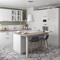 cuisine blanche laquée cuisine blanche avec ilot central leroy merlin