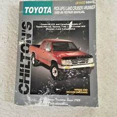 free car repair manuals 1989 toyota truck xtracab sr5 parking system chilton repair manual 89 96 toyota pickup pick up 4runner land cruiser guc ebay