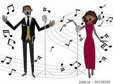 歌手 音楽のクリップアート ミュージカル オペラ ゴスペル のイラスト素材 36138356 pixta