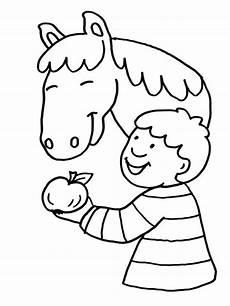 Schule Und Familie Ausmalbilder Pferde Kostenlose Malvorlage Pferde Pferd Frisst Apfel Zum Ausmalen